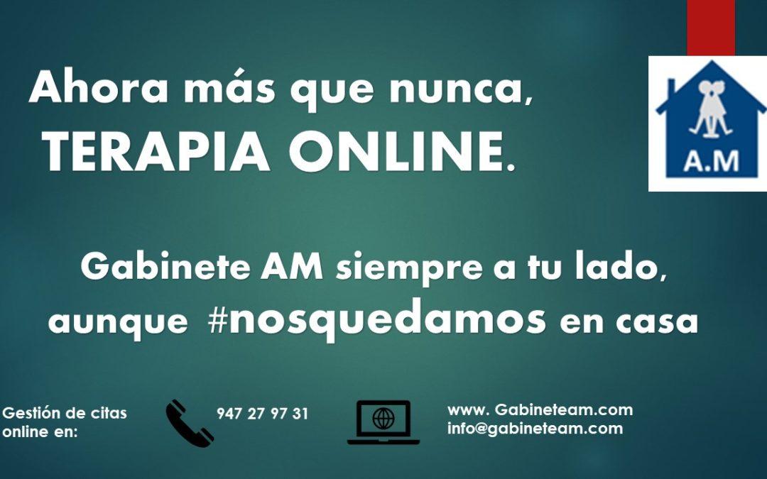 Terapia online porque #nosquedamosencasa.